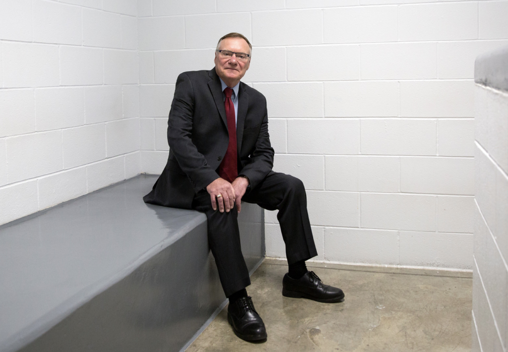 Rick Raemisch, while executive director of Colorado's Department of Corrections, spent 20 hours in solitary confinement and described himself as troubled by the experience. Photograph by David Kidd, 2018.
