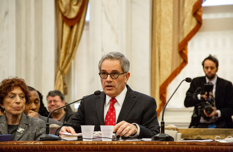 """It is simply not normal to be in a state with so many people doing life without parole and to be unwilling to look at alternatives,"" says Philadelphia District Attorney Larry Krasner. Photograph courtesy of Jared Piper/Philadelphia City Council, 2018."