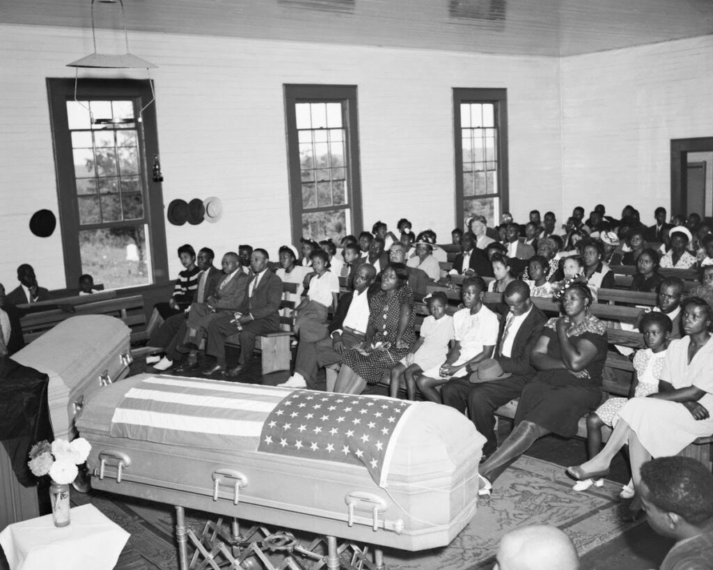 Funerals of George Dorsey and his sister, Dorothy Dorsey Malcolm. Photograph provided by Southern Poverty Law Center.